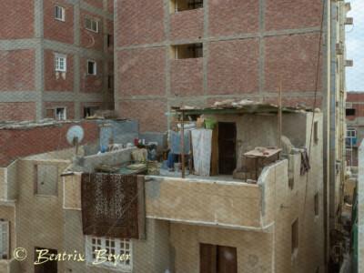 Blick aus dem Fenstrer in Hurghada