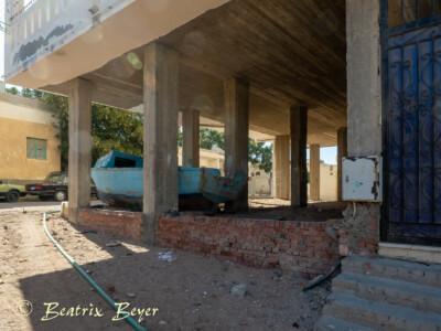 Unser Quartier in der Altstadt Hurghada - die untersten Etagen sind nicht fertig