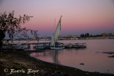 Luxor - Abendstimmung am Nil