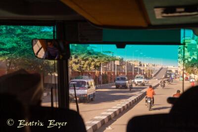 mit dem Bus nach Hurghada