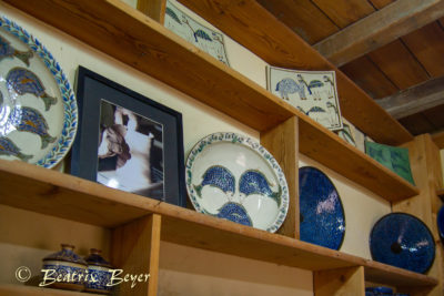 wieder ein Keramikladen - kunstvoll gestaltet