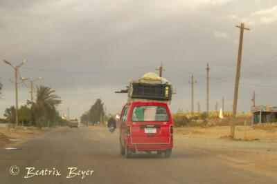 auf dem Rückweg nach Kairo